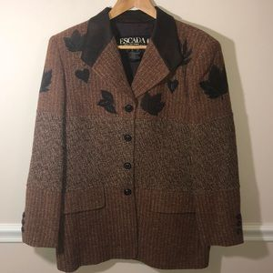Vintage Escada Blazer Leaves 42